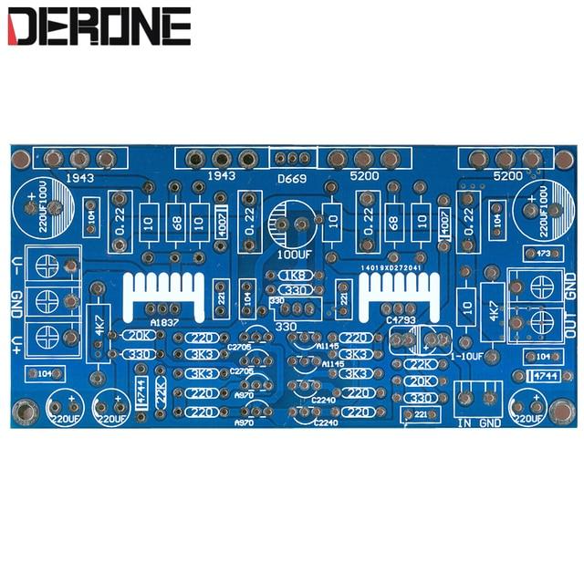 1 200W Mono Bộ Khuếch Đại Công Suất PCB Bảng 1943 + 5200 Cho Audiophile DIY