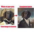 Presentes personalizados cães retrato animais de estimação gato pinturas a óleo transferência de imagem para tela ou transformar imagem para pintados à mão de alta qualidade