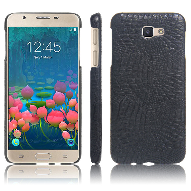 best website d4275 a7e9a US $2.51 40% OFF| Crocodile Skin PU leather Protective Case Cover For  Samsung Galaxy J5 Prime / Galaxy On5 2016 On 5 (2016) Phone Bag Case-in  Fitted ...