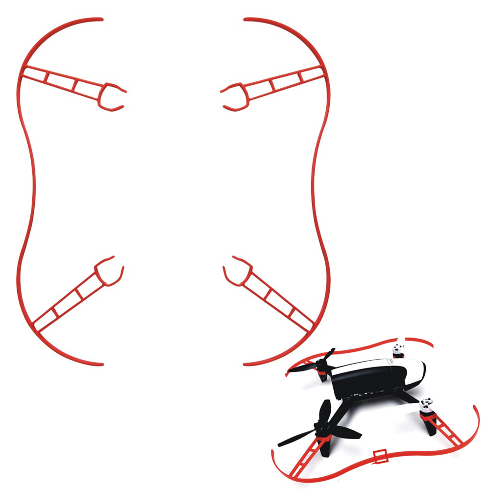 2pcs/set Parrot Propeller Prop Protective Guard Bumper Protector for Rc Drone Parrot Bebop 2.0 Quadcopter White Red protective pvc car bumper guard protector sticker white 2 pcs