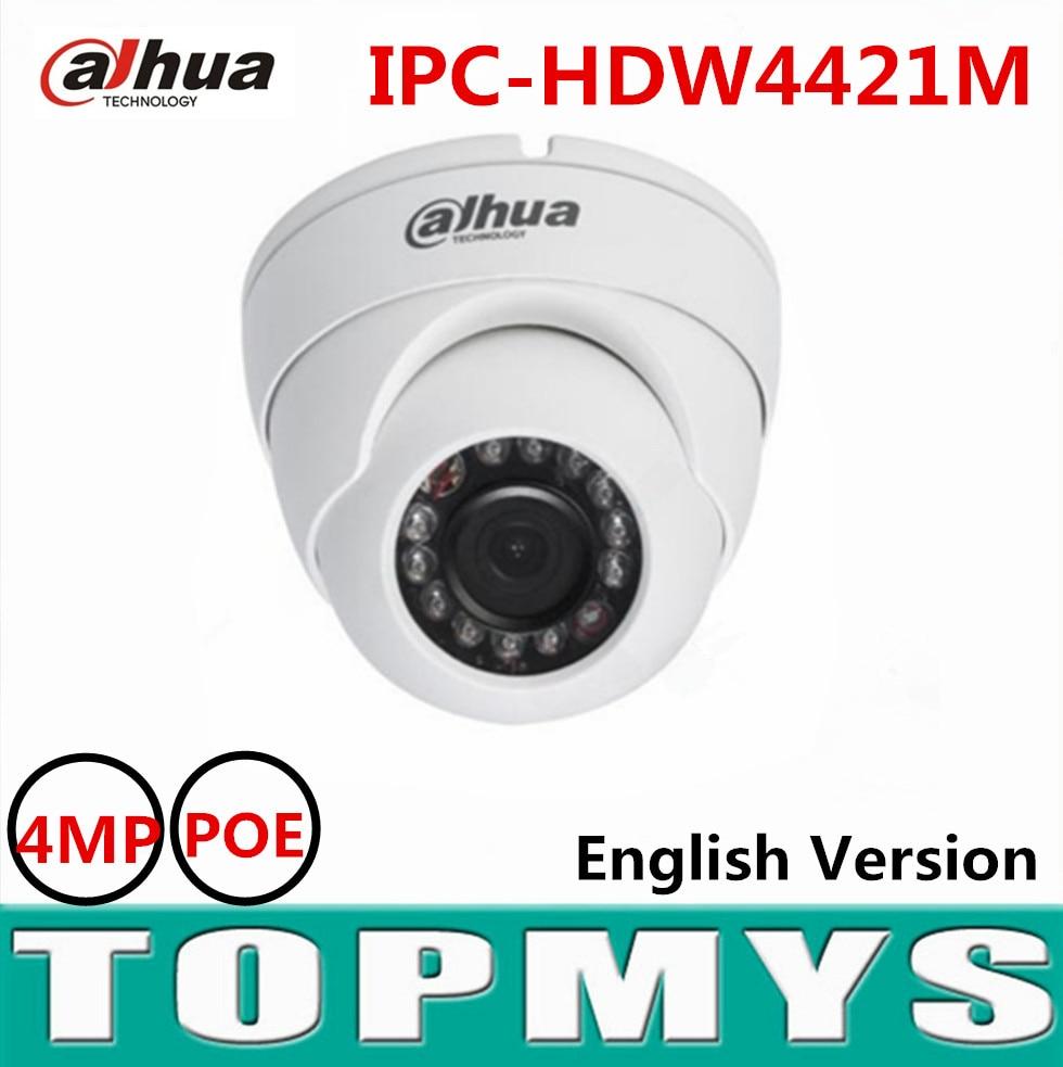 Dahua 4MP HD WDR Network IR Eyeball Camera IPC HDW4421M POE IR 20m CCTV security ip