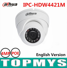 Dahua 4MP HD WDR Network IR Eyeball Camera IPC-HDW4421M POE IR 20m CCTV security ip Camera support smart Detection waterproof