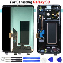 For Samsung galaxy S9 Lcd Display 100% Tested Super AMOLED LCD for G960 g960f lcd Touch Screen Digitizer free tools