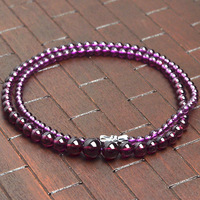 3 8mm Grade AAAAA natural garnet beads bracelets bangles gem bracelets for women garnet necklace tower chain vintage jewelry