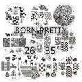 10pcs BORN PRETTY Butterfly Animal Design Nail Art Stamping Template Image Plates Nail Art Tool BP26-35