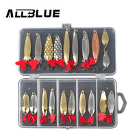 ALLBLUE Mixed Colors Fishing Lures Spoon Bait Metal Lure Kit Iscas Artificias Hard Bait Fresh Water