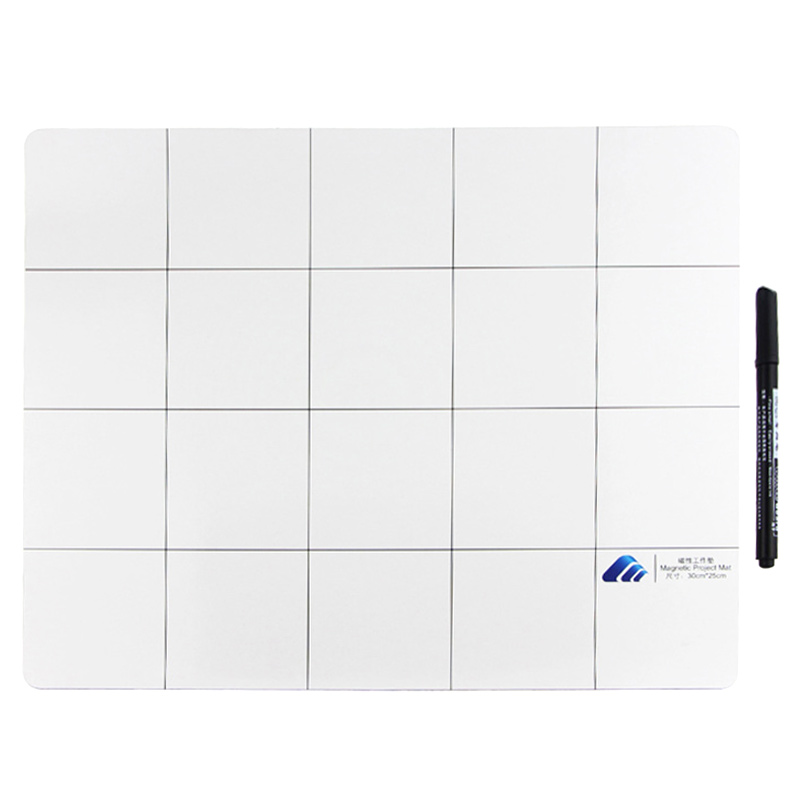 25x30cm Magnetic Project Mat Screw Work Pad with Marker Pen <font><b>Eraser</b></font> For <font><b>Cell</b></font> <font><b>Phone</b></font> Laptop Tablet Repair Tools