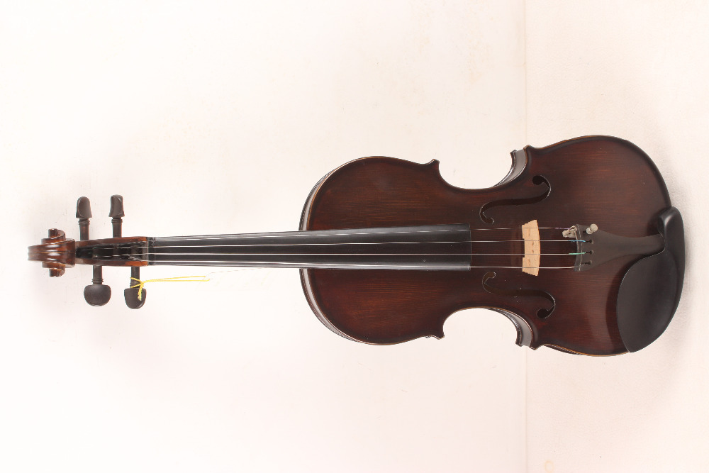 4-String 4/4 3/4 New Electric Acoustic Violin dark  red  #1-002# handmade new solid maple wood brown acoustic violin violino 4 4 electric violin case bow included
