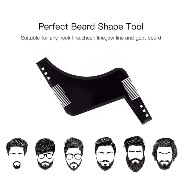 Beard Styling Template Stencil  Beard Comb for Men Lightweight and Flexible  Fits All-In-One Tool Beard Shaping Tool