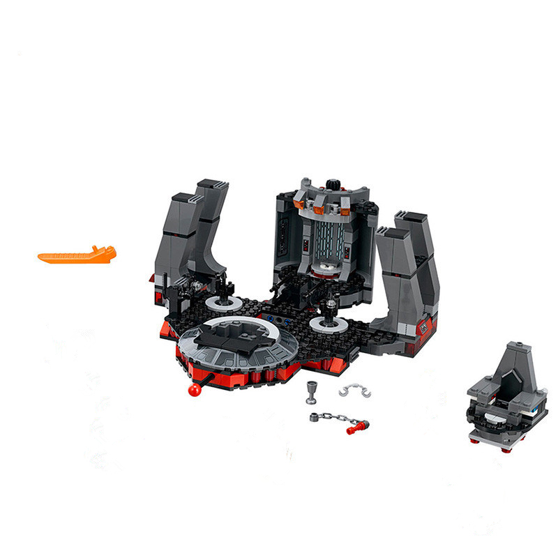 New Compatible legooed Star plan Wars Snoke The Throne Room Set Model Building Kits Blocks Bricks Kids Toys sp Dorpshipping