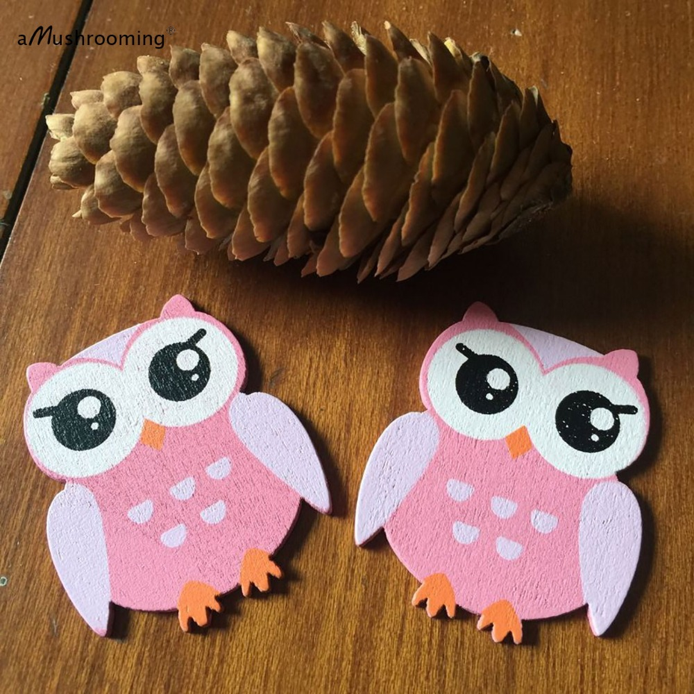 set of 48 handmade printed wooden owl pieces as table decoration bird wooden shapes craft projects in party diy decorations from home garden on
