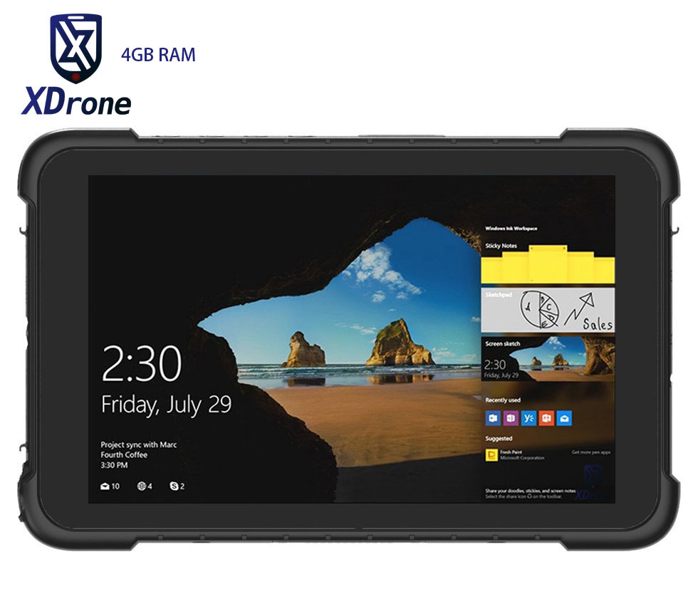 D'origine K86H Robuste Windows Voiture Tablet PC 4 GB RAM 64 GB ROM IP67 Étanche Antichoc 8 Pouce Quad Core OTG 4G GNSS Ublox GPS