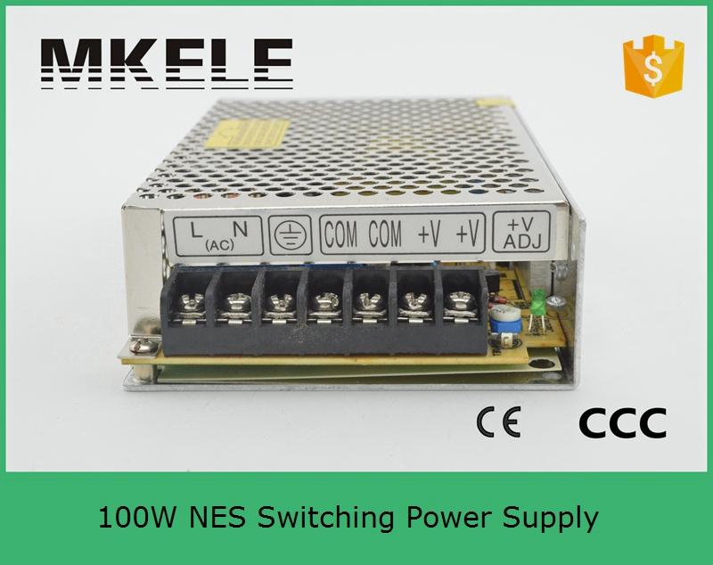 2018 New Reliable Universal Free shipping Genuine 100w Single Output Switching Power Supply NES-100-24 24V 4.5A Power Source free shipping 1pc nes 200 5 200w 5v 40a single output switching power supply