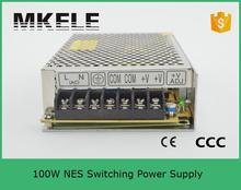 2015 New Reliable Universal Input Voltage Low Price Hot Selling Power Supply 24v 100w Nes-100-24 4.5a 100watt Smps with Ce