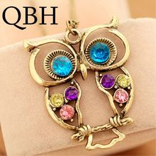 NK009 New Anime Hot Girl Bijoux Men Collier Maxi Vintage Owl Necklaces Pendants For Women Wedding Choker Colar Jewelry(China)