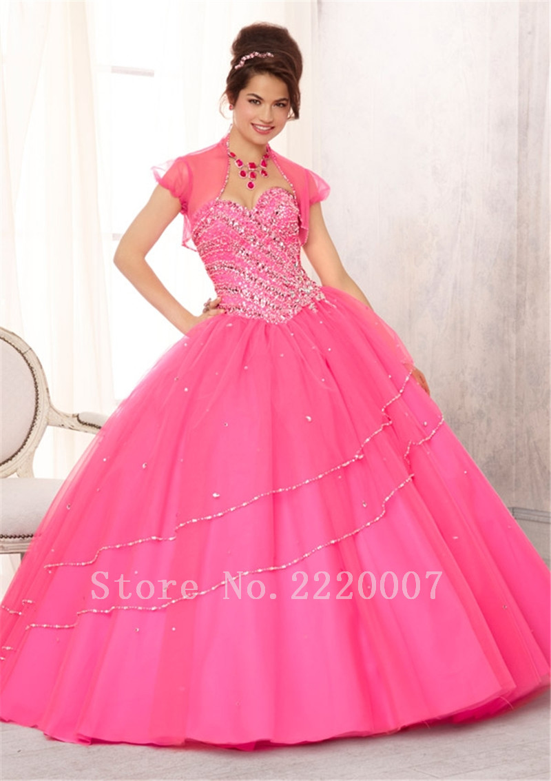df74530210 Graceful Fancy Quinceanera Dress Ball Gown Organza Cheap vestidos de 15  anos Crystal Sweetheart Quinceanera Dresses