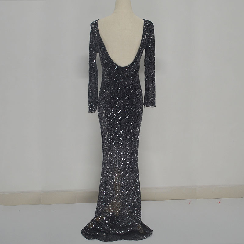 Vestido De Festa Sexy Long Dress Black Glitter Dress Backless Summer 2018 Plus Size Women Dress Vestidos Mujer Robe Sexy in Dresses from Women 39 s Clothing