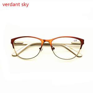 72e6e4cb392 2018 Pd62 Retro Cat eye metal brand Men and Women Reading Glasses Cat eye  Spring Hinge Eyeglasses Presbyopic Glasses 1.0 to 3.5