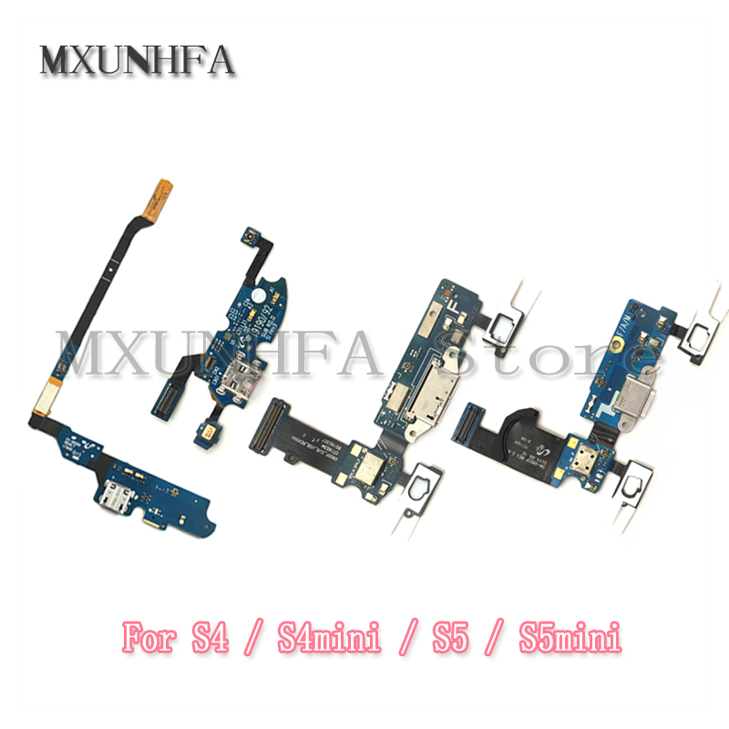 Charging Charger Port Flex Cable For Samsung Galaxy S4 S5 Mini I9505 I9500 I337 I9192 I9195 G900 G900F Dock Connector USB Socket