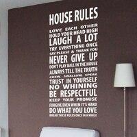 Yeni 2018 Ev Kuralları Canlı Aşk Gülmek House Art Duvar İlham Tırnaklar Ve Atasözü Duvar Etiketler Çıkartması Duvar Boyutu 60x120 CM