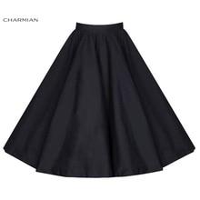 Women's Vintage Retro Skirt High Waist Flared Lolita Christmas Skirt Polka Dot Floral Rockabilly Casual Skirt
