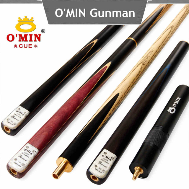 O'MIN Snooker Cue, Model Gunman, 145cm Length, 10mm Cue Tip, 3/4 Jointed cues, Handmade Billiard Stick,Free Shipping omin snooker cue union the top level 145cm length 10mm cue tip ash wood 3 4 handmade billiard stick free shipping