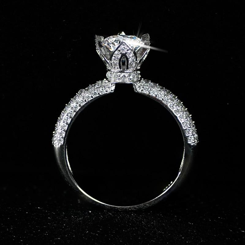 Moonso réel 925 bague en argent Sterling pour les femmes de fiançailles ensemble d'anneaux de mariage bijoux zircone LR4606S - 5