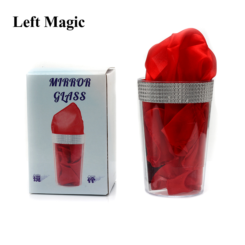 Mirror Glass Magic Tricks New Liquid To Silk Appearing Props Close-Up Magic Street Stage Magic Accessories Comedy Mentalism