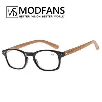 b205c73fe3 Mujeres gafas de lectura mujer gafas de madera patrón de madera de vidrio  receta dioptrías lupa óptica gafas masculino