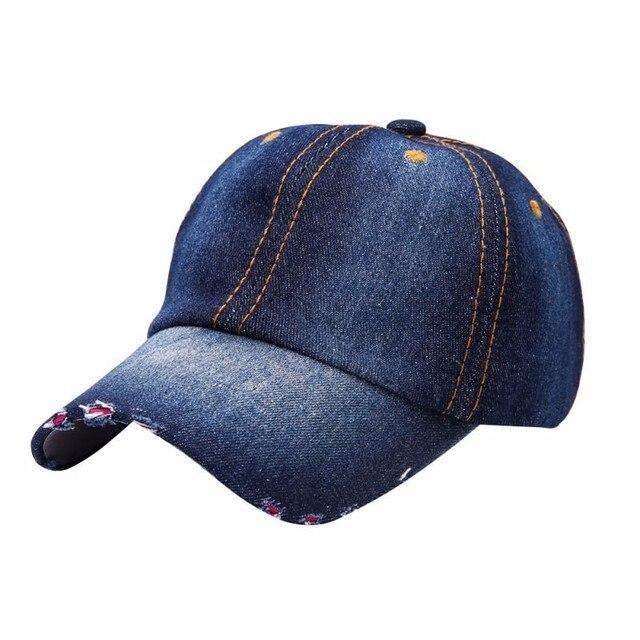 0c7e20db347 Fashion Men Women Jean Hat Casual Denim Baseball Cap Sun Unisex Hats  Adjustable