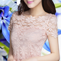 2014 Nueva primavera y otoño de Las Mujeres Ahueca Hacia Fuera de Encaje Blusas o Camisas Tops, Ropa de mujer Camisa Casual Camisas blusas 8568-945
