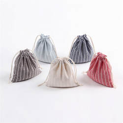 Полоса шнурок сумки Дорожная сумка-мешок для хранения Одежда Сумочка хлопок Для женщин обувь для девочек сумки косметичку высокое