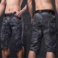 Homens Tactical Camuflagem Capri Calças Dos Homens de Poliéster de Algodão Cortadas Calças Quick Dry Moda Casual Turnê