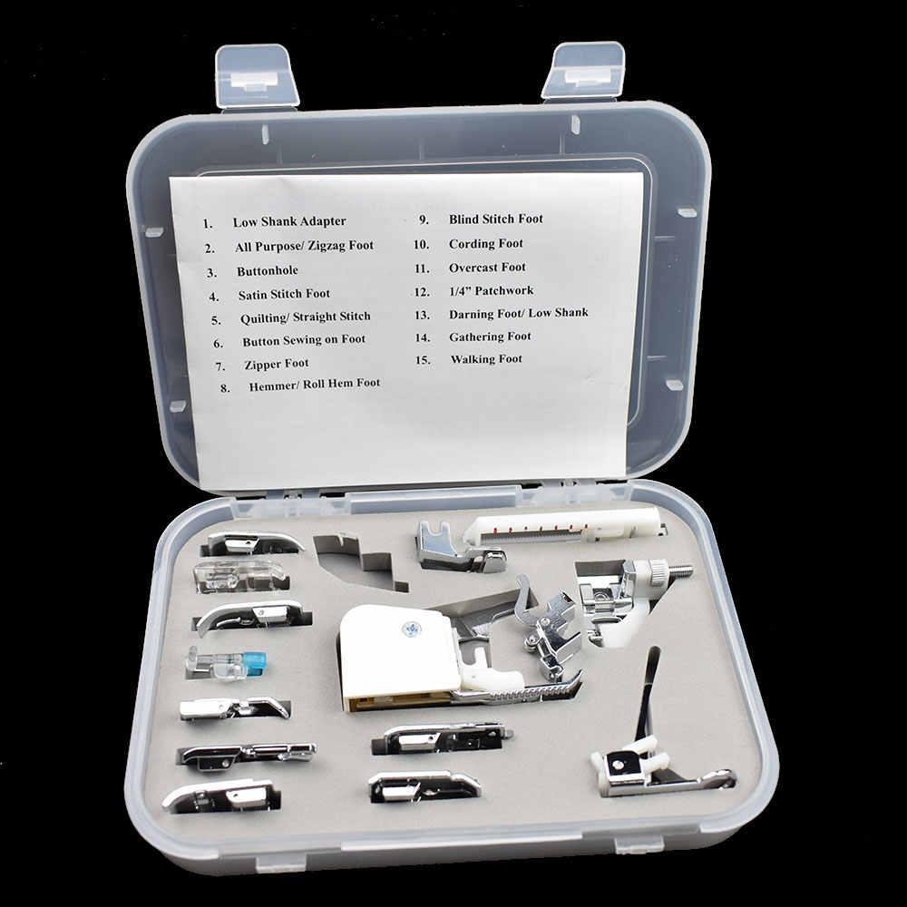 15 шт. многофункциональная швейная машина домашние инструменты для шитья ножных лапок набор прижимных лапок для BROTHER JANOME SINGER