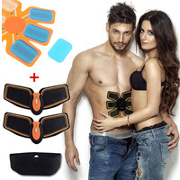 Abdominal muscle trainer gear EMS ABS wireless remote control muscle stimulator fitness body with hydrogel pad gym equipment