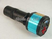 100X HD Индустрии Цифровой Микроскоп Лупа Камеры 2.0MP VGA AV ТВ-Видео Выход для ЛАБОРАТОРИИ PCB + Масштаб c-крепление объектив