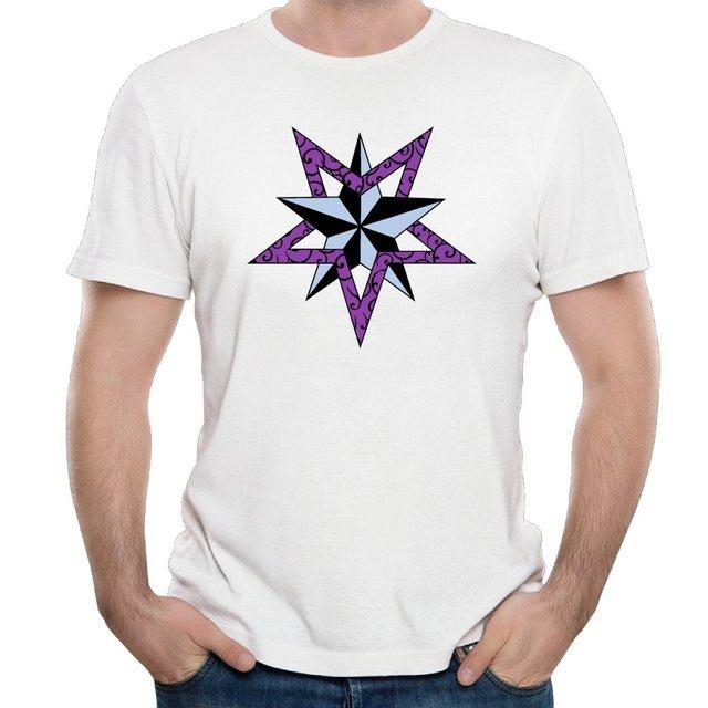 747bbd2cf024c Estrela náutica Rosa Algodão Estampado O-pescoço Curto Camisa Social  Masculina Personalizado Dos Desenhos Animados