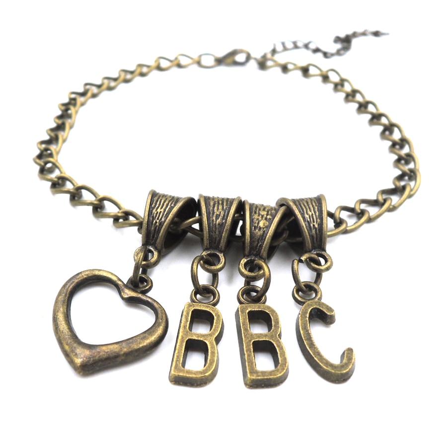 αγάπη BBC ΚΑΡΔΙΑ anklet σκλάβος swinger κοσμήματα κοσμήματα CUCKOLD βασίλισσα του SPADES ALPHABET AL003