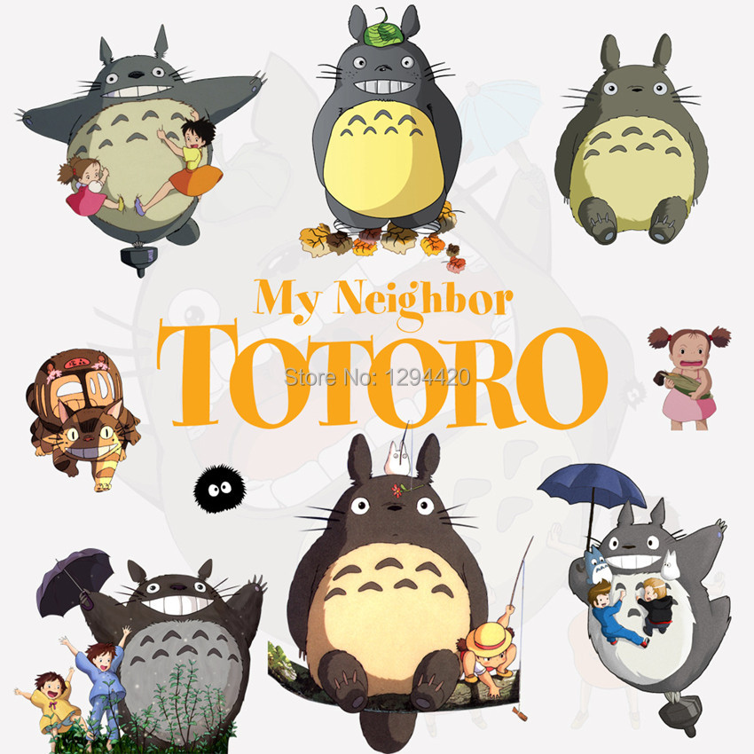 Baby favorite My Neighbor anime wall stickers Totoro 3d vinyl decals ...