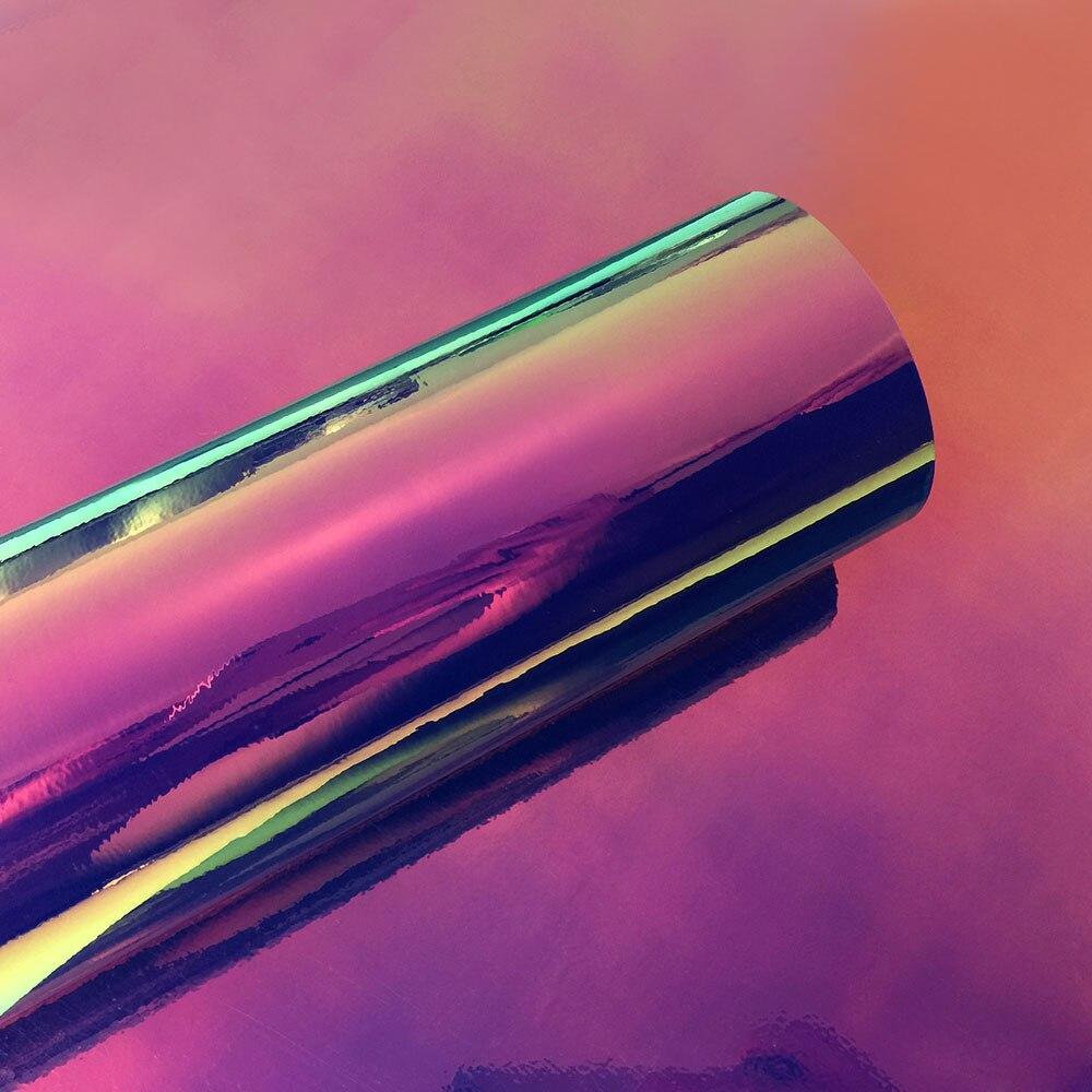 50x200 см/лот Автомобильная Радужная голографическая Хромовая пленка виниловая оберточная Лазерная хромированная зеркальная покрывающие наклейки Наклейка авто украшение Stlying - Название цвета: Deep blue