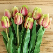 10 Pcs Fake Flower Bridal Flowers for Wedding Artificial Tulip Real Touch Party PU Tulips