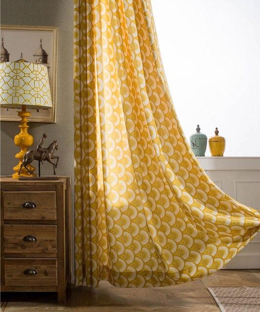 geel decoratieve scheidingswand cafe keuken deur gordijnen pastorale herfst fruit polyester katoen gedrukt raam gordijnen b16120
