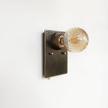 Duvar Aplik Lambaları Banyo ayna Işık Duvar Işıkları Ev Aydınlatma Için Bakır yatak odası lambası Bar Merdiven Aydınlatma