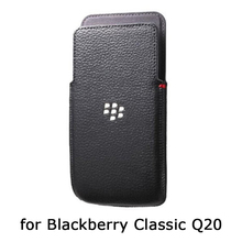 Original Phone Pouch for Blackberry Classic Q20 Genuine Leather Case for Blackberry Q20 Handmade Luxury Fundas Skin Bag