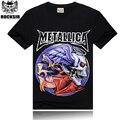 2016 summer style t-shirt men,3D Metallica skulls rock men's t shirt,casual handsome t shirt men,100% cotton short sleeves