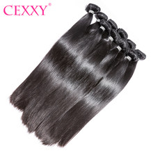 CEXXY Hair Remy Hair Straight 10PCS Lot Human Hair Bundles Free Shipping(China)