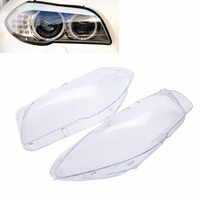 1 Pair High Quality Headlight Clear Lens Cover Front Left Right Headlamp Shell For BMW F10