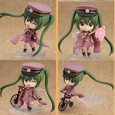 ФОТО Newest arrival 4pcs/set Anime Hatsune Miku sport style Senbonzakura action pvc figure toy tall 16cm in box hot sell.