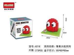 Image 5 - Piksel PacMan mikro blokları modeli DIY araya aksiyon CartoonFigure Donkey Kong Qbert yapı seti oyuncak çocuk hediye karikatür 9617 9620
