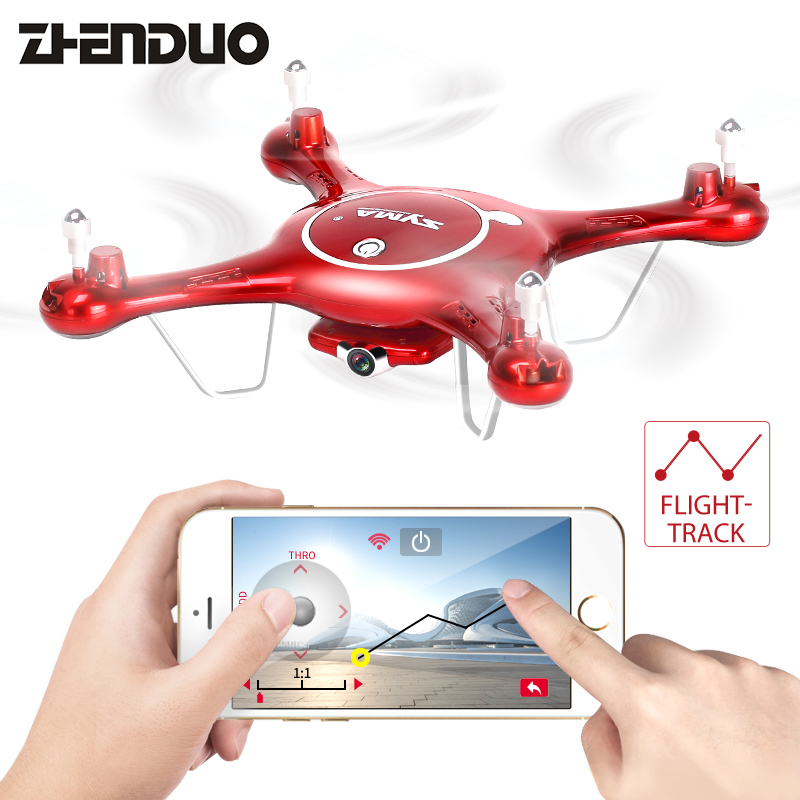 SYMA X5UW FPV RC Drone With 720P WiFi 2MP HD Camera 2.4G 4CH 6Axis Quadcopter Helicopter Height Hold One Key Land Toys syma x5uw fpv rc quadcopter rc drone with wifi camera 2 4g 6 axis mobile control path flight vs syma x5uc no wifi rc helicopter
